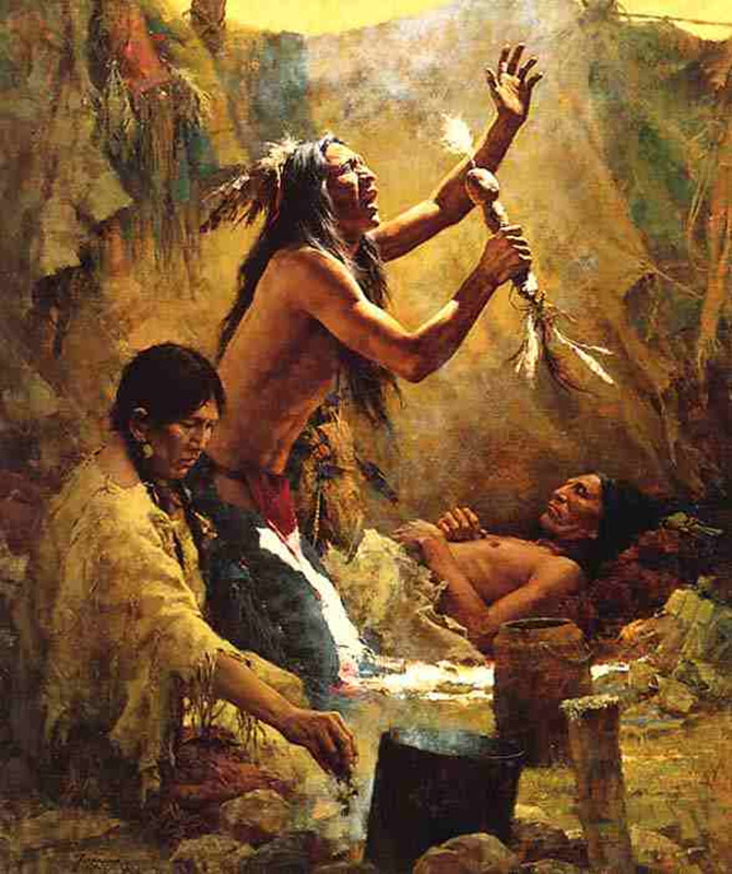 Native American healing session