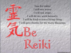 the five Reiki principles for healing