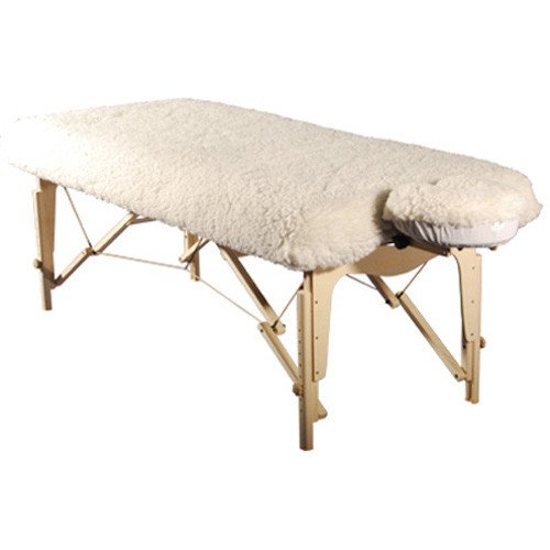 Reiki table with fleece cover