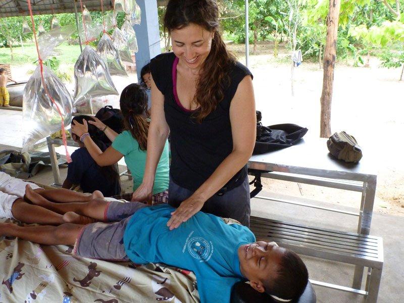 Reiki on Cambodian boy