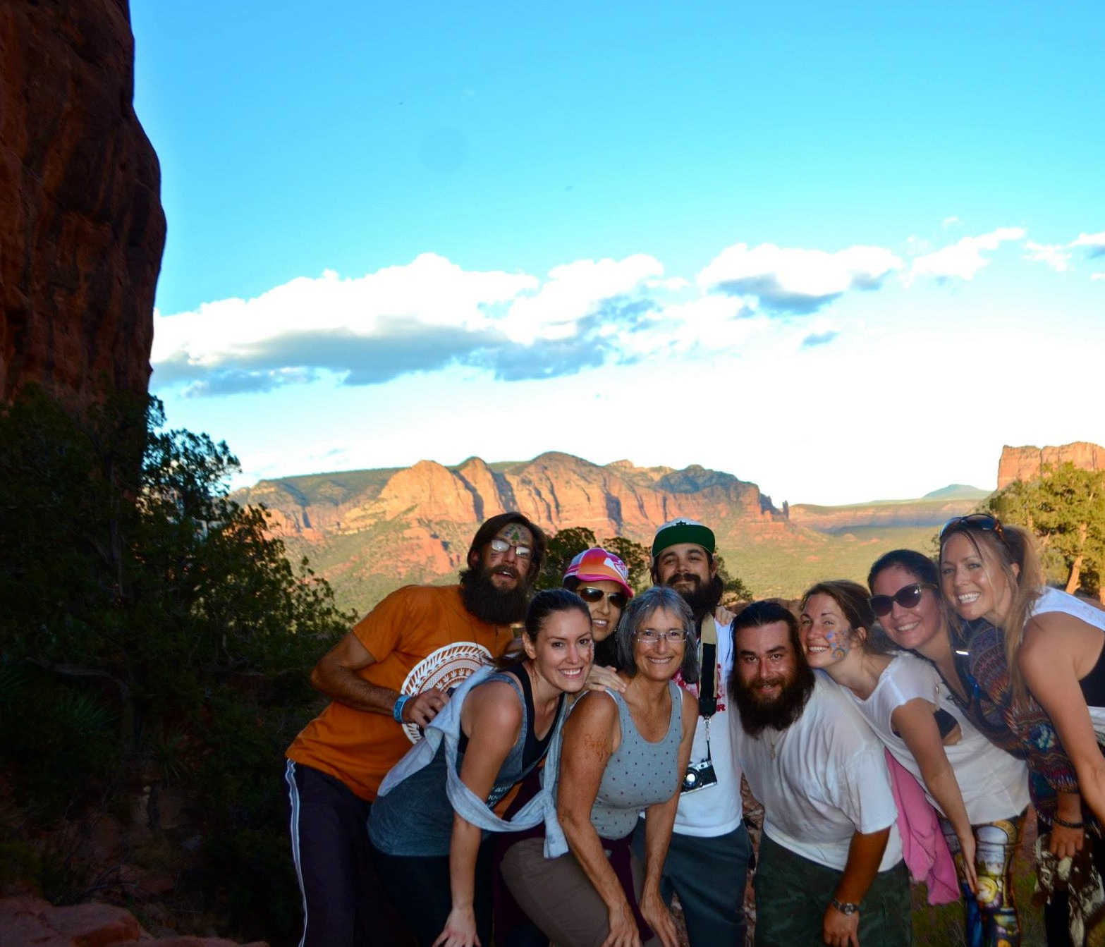 Reiki retreat group pic in Sedona