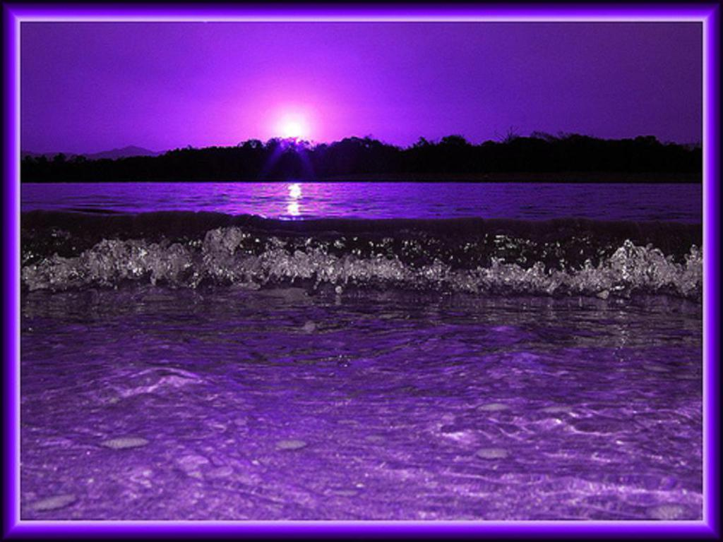 Purple Reiki light energy